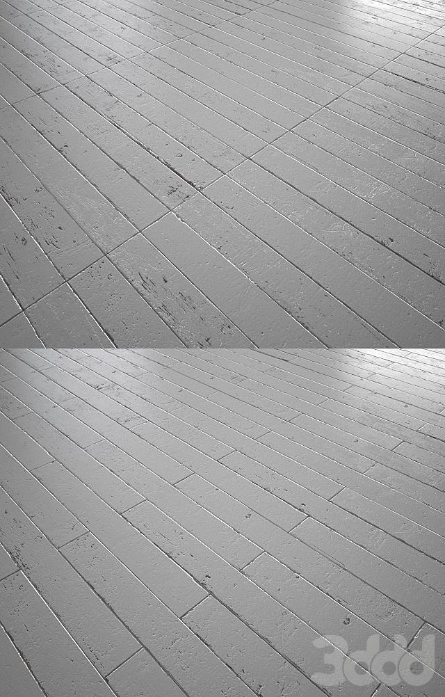 White Painted wood floor - MultiTexture
