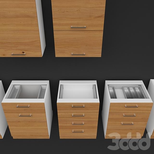 Кухонные модули с фурнитурой BLUM