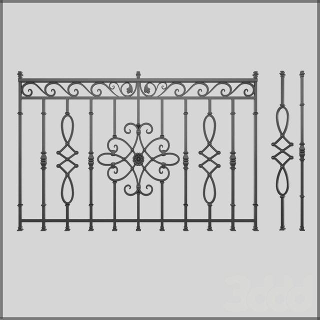 Кованный забор 5