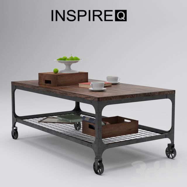 INSPIRE Q Nelson Industrial Modern Rustic Cocktail Table