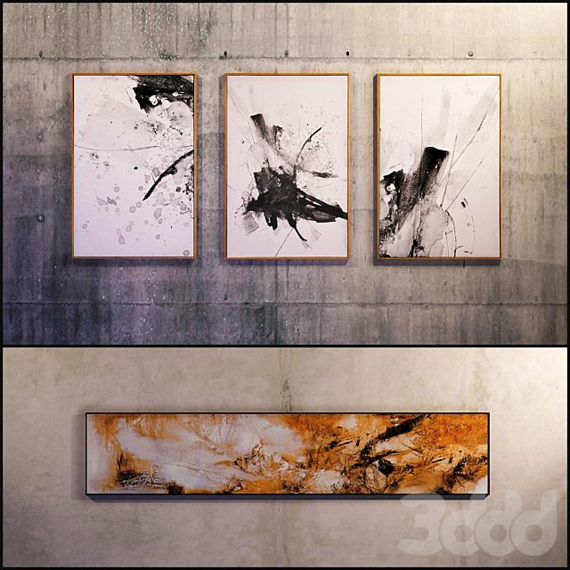 Картина в раме: 12 шт (сборник 10) Абстракция