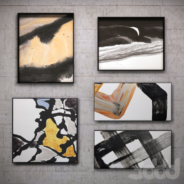 Картина в раме: 11 шт (сборник 41) Абстракция
