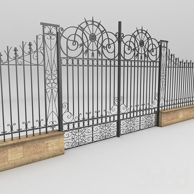 Metal door and Fence