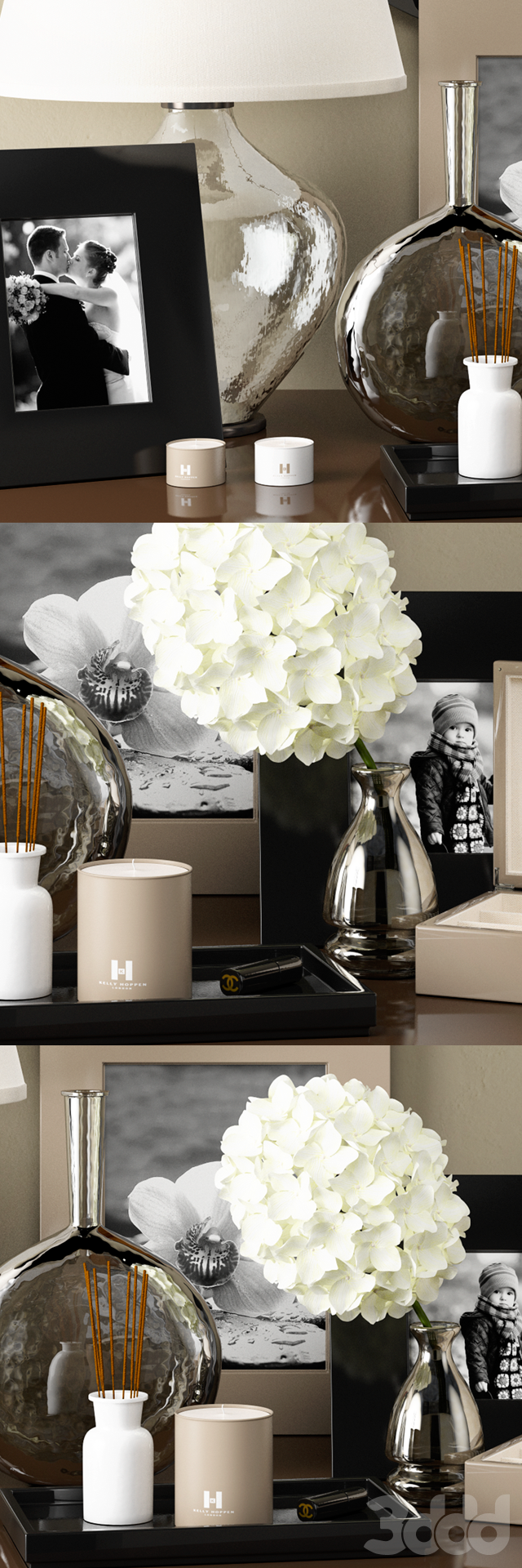 Dressing table decoration by Kelly Hoppen