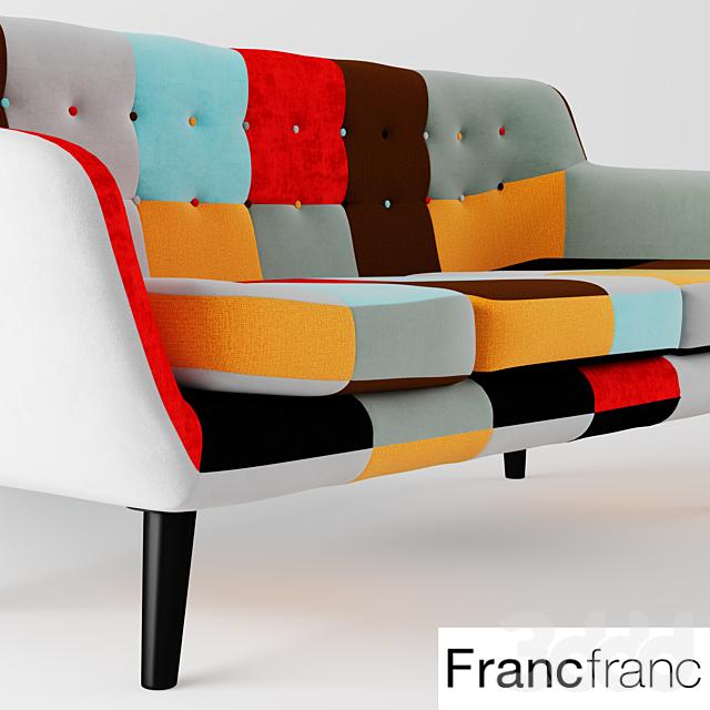 NAVIA Patchwork Sofa 3S