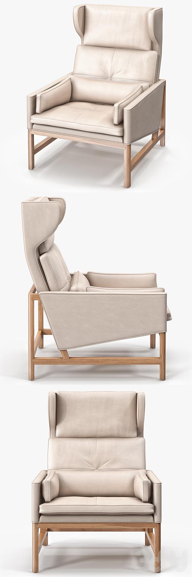 BassamFellows CB-51 Wing Back Lounge Chair