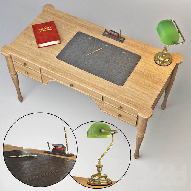 Cadore Table & bankers lamp