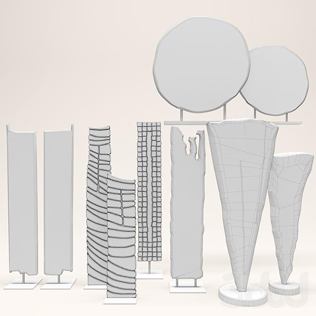 Набор из десяти декоративных статуэток