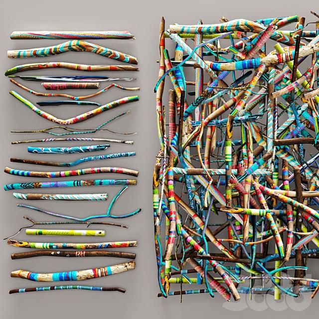 decorative colored threads