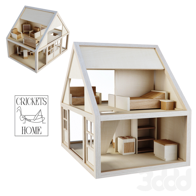 Деревянный домик от Crickets Home