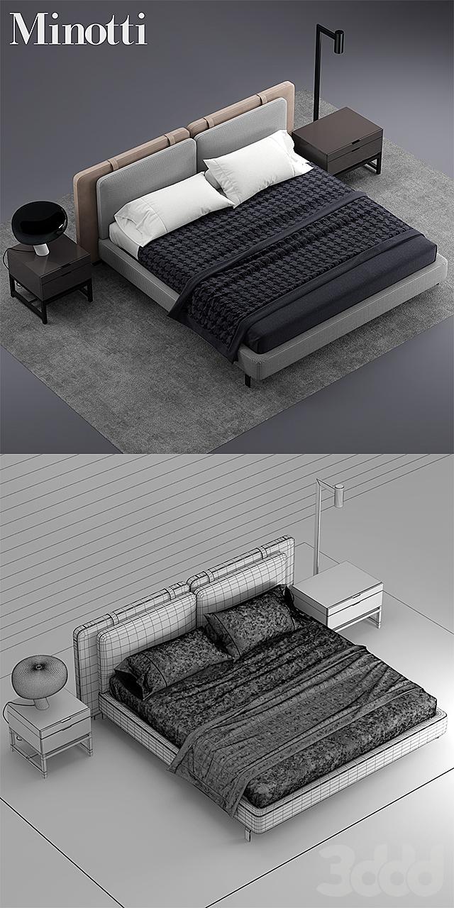 Кровать minotti tatlin SOFT