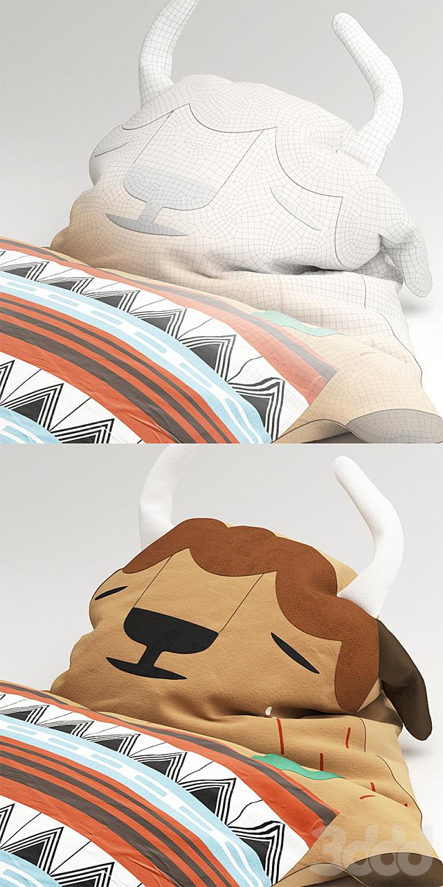 Подушка-игрушка бизон