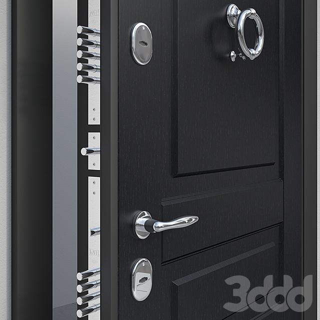 Дверь входная с молотком