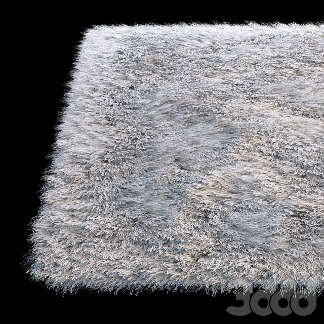 Прямоугольный пушистый ковёр