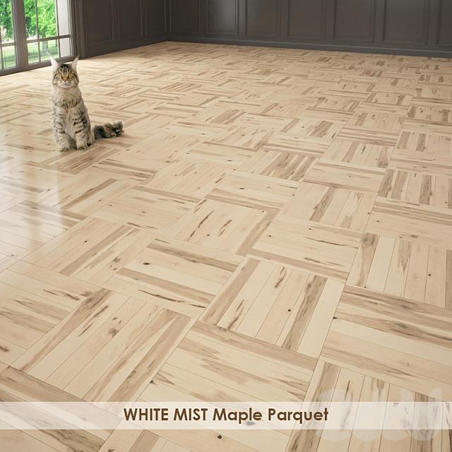 WHITE MIST Maple Parquet