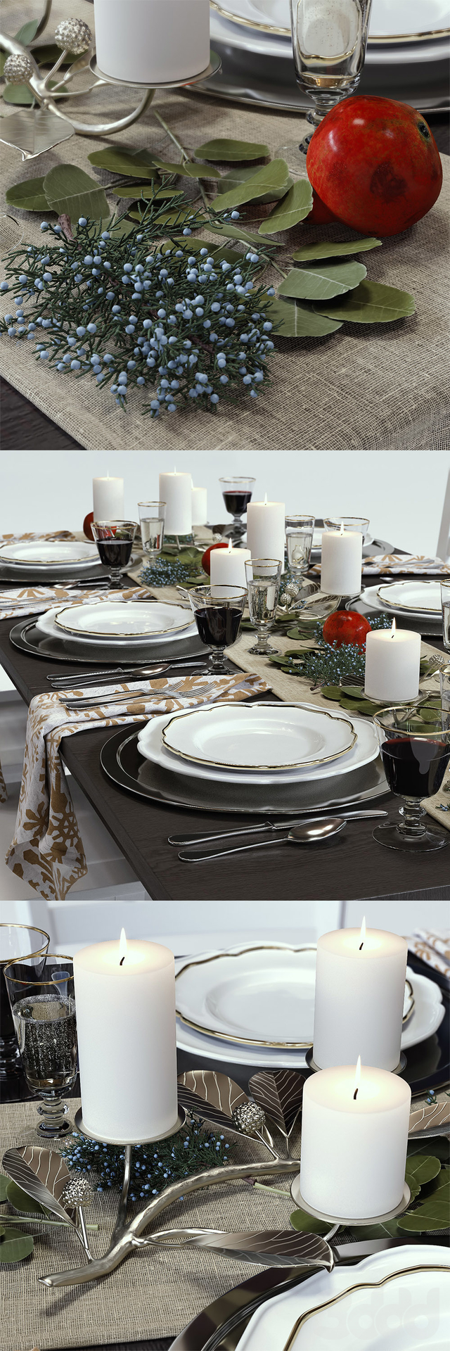 C&B Traditional Holiday Table