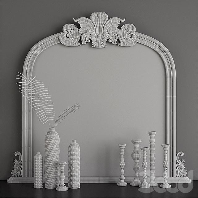Haversham Overmantel Mirror