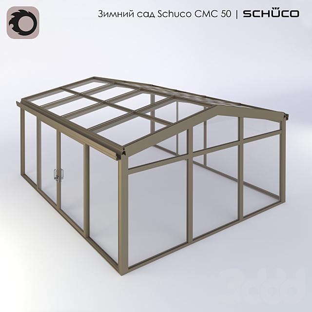 Зимний сад Schuco CMC 50 с двускатной кровлей