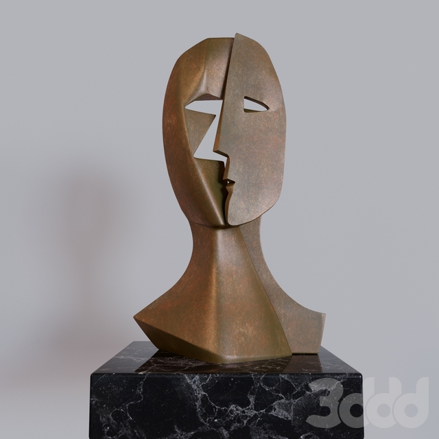 PABLO PICASSO BRONZE SCULPTURE MASK