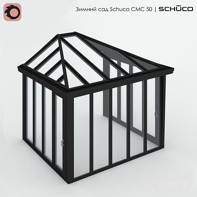 Зимний сад Schuco CMC 50 с полувальмовой крышей