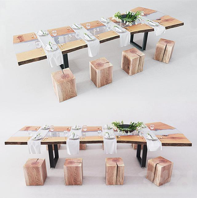 Сервировка стола   слэб