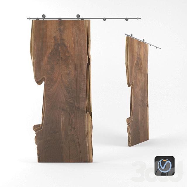 Дверь-слэб из дерева