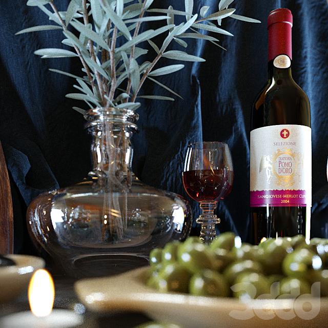Wine & Olive Set