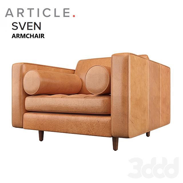 sven charme tan armchair