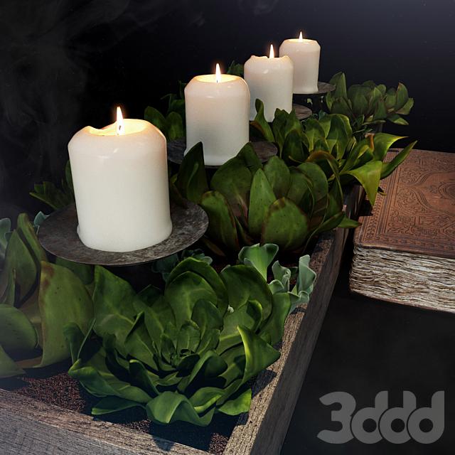 Декор со свечками