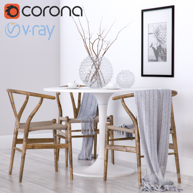 Wishbone chair CH24 & Ikea DOCKSTA