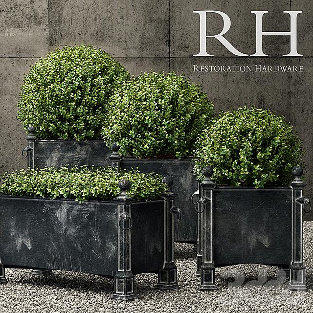 Restoration Hardware versailles weathered zinc planters
