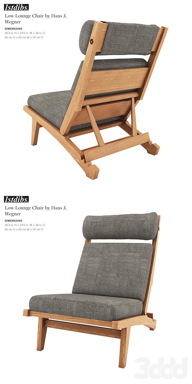 Low Lounge Chair by Hans J. Wegner