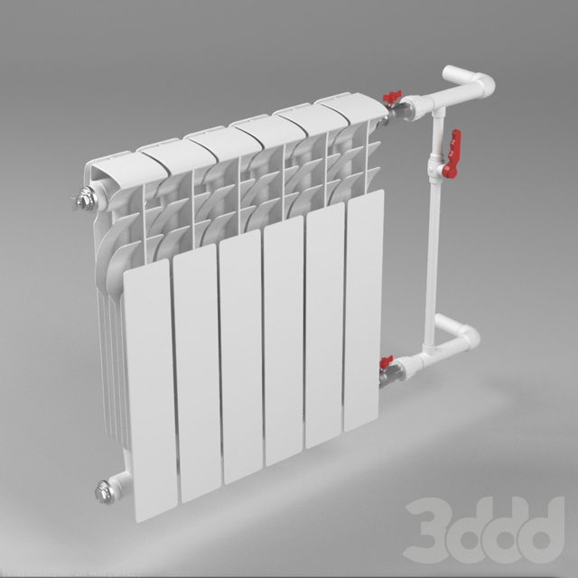 Bimetallic heating radiator