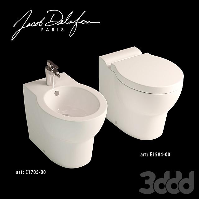 Jacob delafon collection Ove floorstanding WC+Bidet