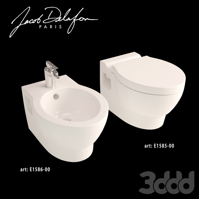 Jacob delafon collection Ove wall-hung WC+Bidet