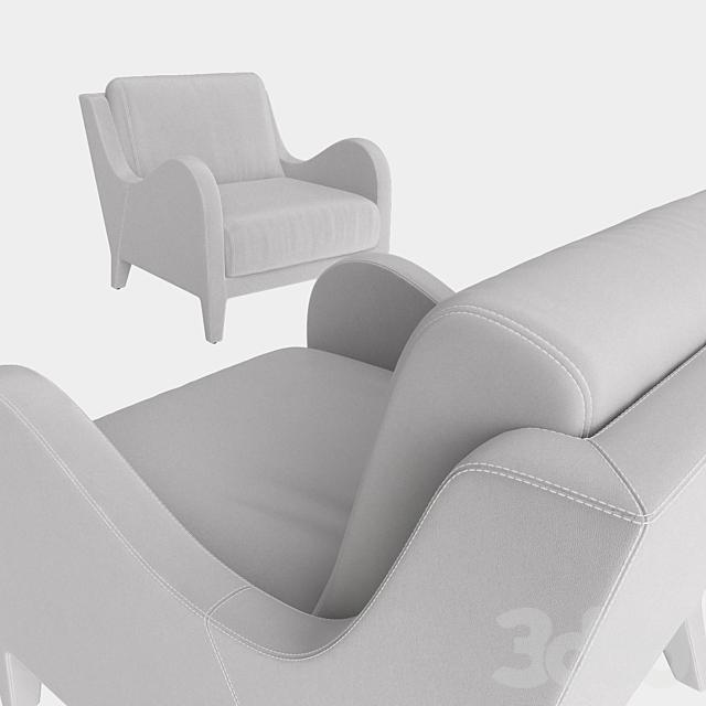 Flai armchair NOUVELLE VAGUE art 11518 DB