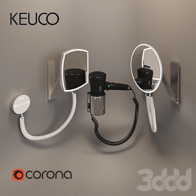 Hair dryer Cosmetic mirror Keuco