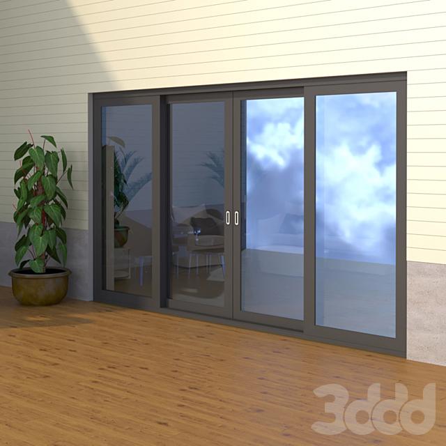 Раздвижная дверь ASS 70.HI - ST 1D
