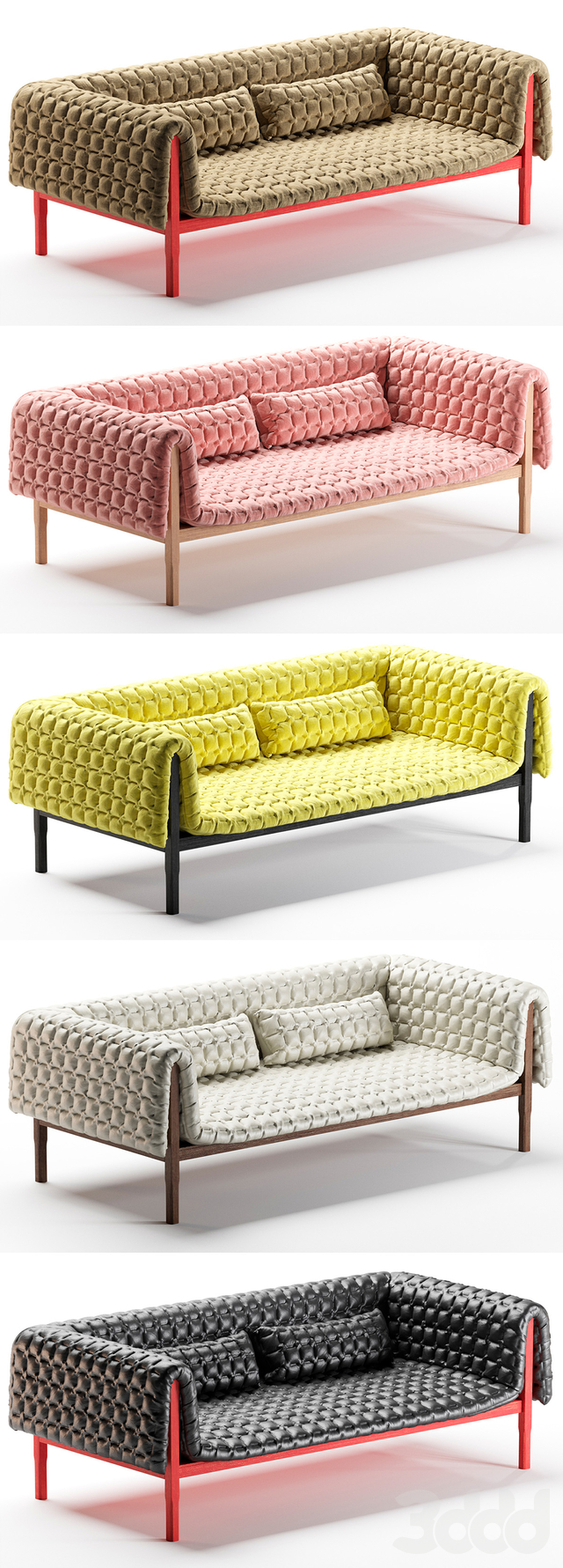 Ruche large settee low back