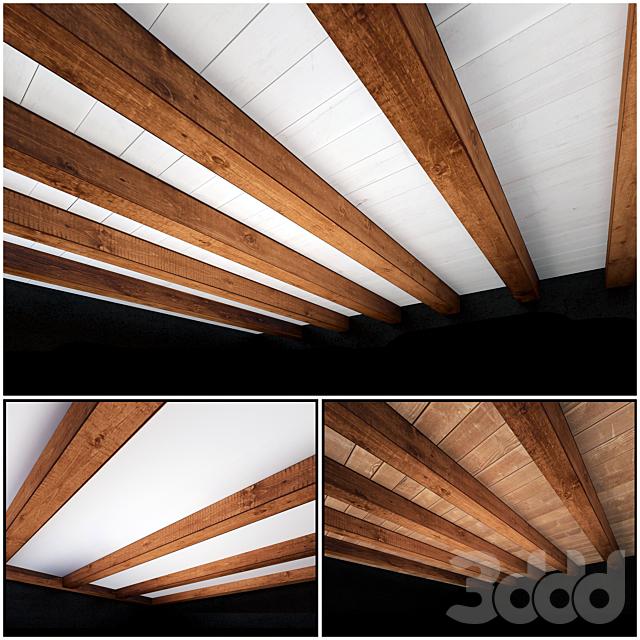 Деревянный потолок 1