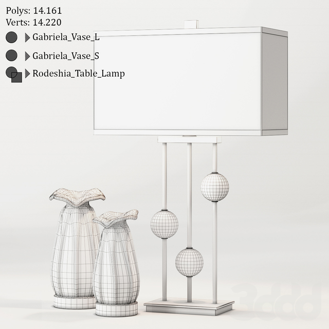 Uttermost / Rodeshia Table Lamp and Gabriela Vases