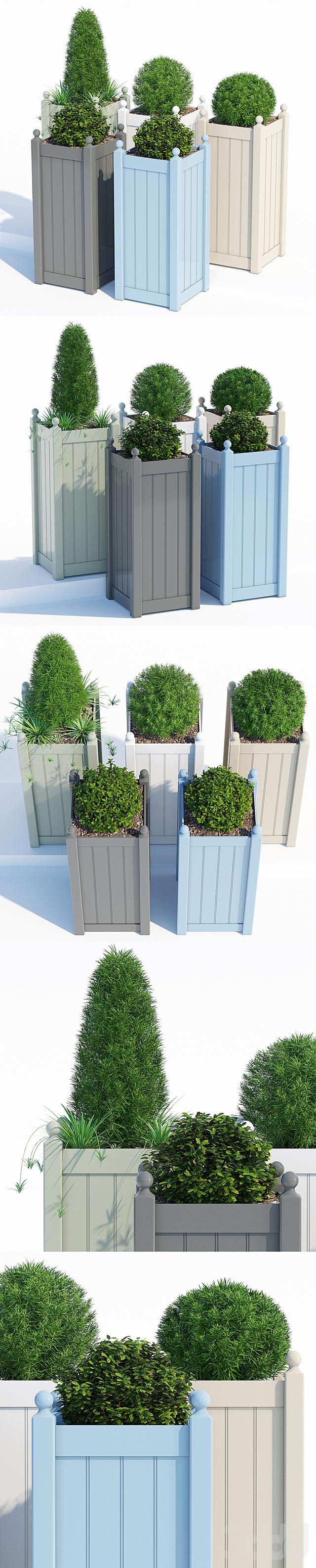 Timber tall planter