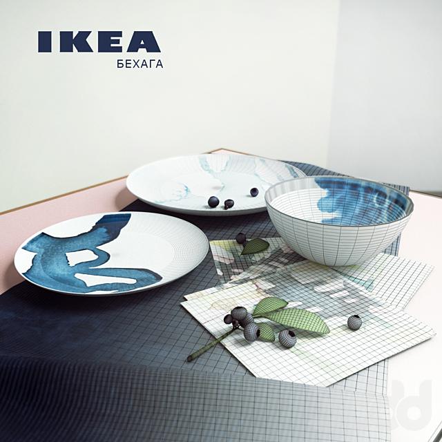 Набор тарелок серии БЕХАГА (ИКЕА)