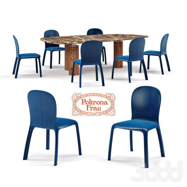 Poltrona Frau chair Amelie and Jane table