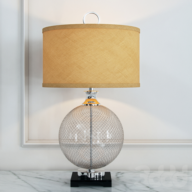 Uttermost Catalan Polished Nickel Cage Table Lamp