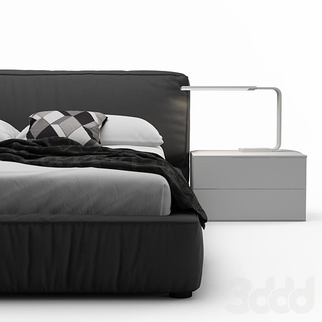 Rossetto Twist Platform Bed