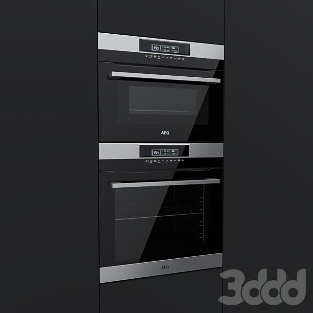 AEG - духовой шкаф BPR742320M и компактный духовой шкаф KMR761000M