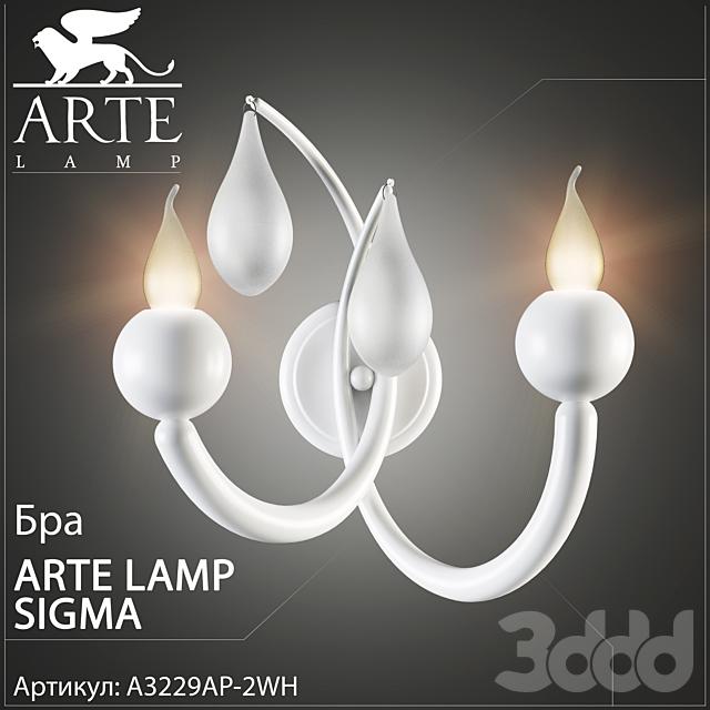 Бра Arte Lamp Sigma A3229LM-2WH