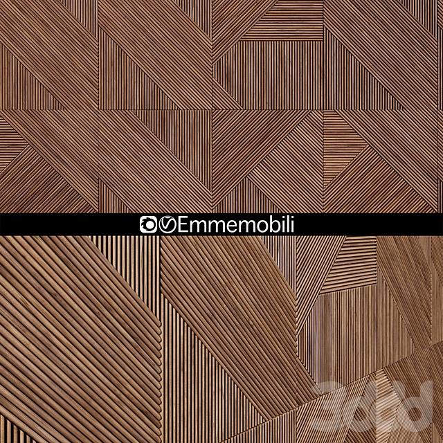 Emmemobili STRIPES BOISERIEwalnut panels