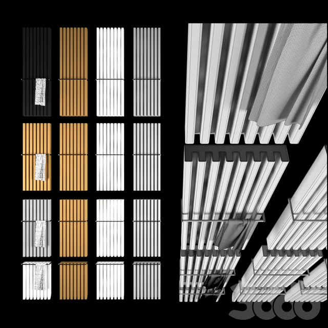 Decorative radiator set Soho Bathroom v3 by Palombo / Vertical wall-mounted